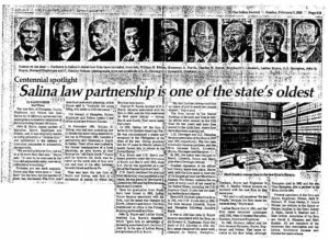 Salina, Kansas law firm in the newspaper