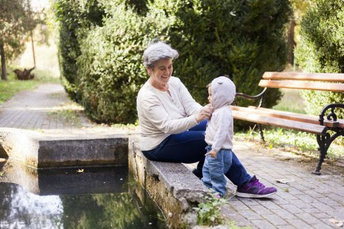 Grandmother with Toddler Grandchild