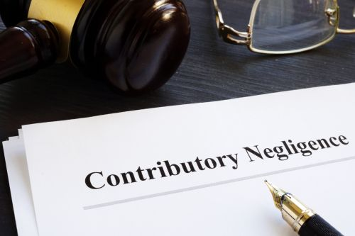 Documents about contributory negligence in a court. - Hampton & Royce, L.C.